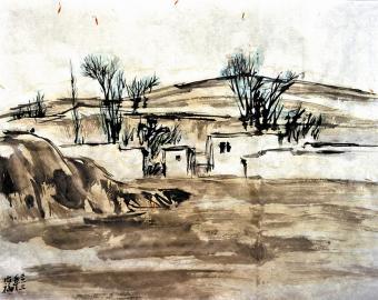 春天的素描――省内外画家采风写生作品选图片